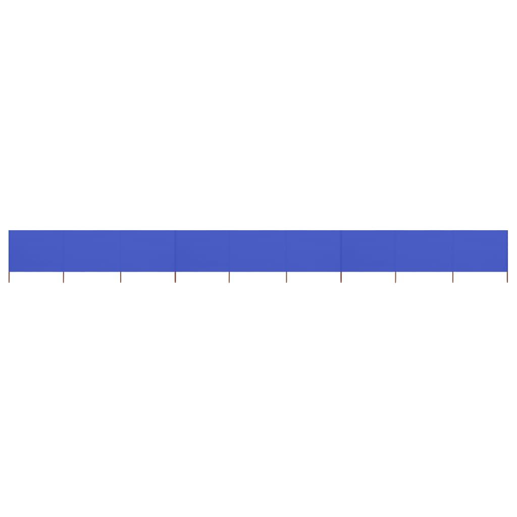 9-teiliges Windschutzgewebe 1200 x 160 cm Azurblau