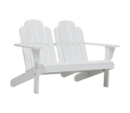 vidaXL 2-personers Adirondack-stol træ hvid