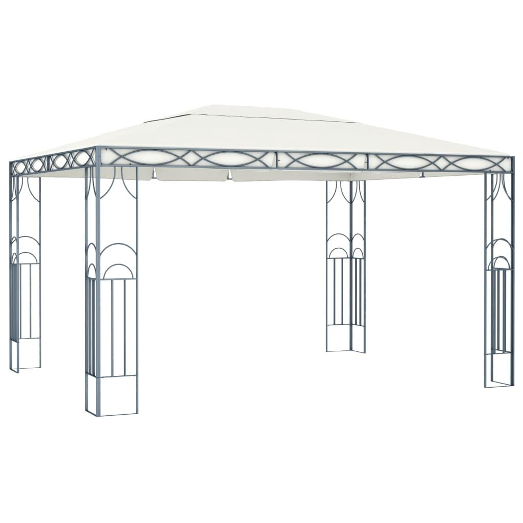 vidaXL Pavilion, crem, 400 x 300 cm poza 2021 vidaXL