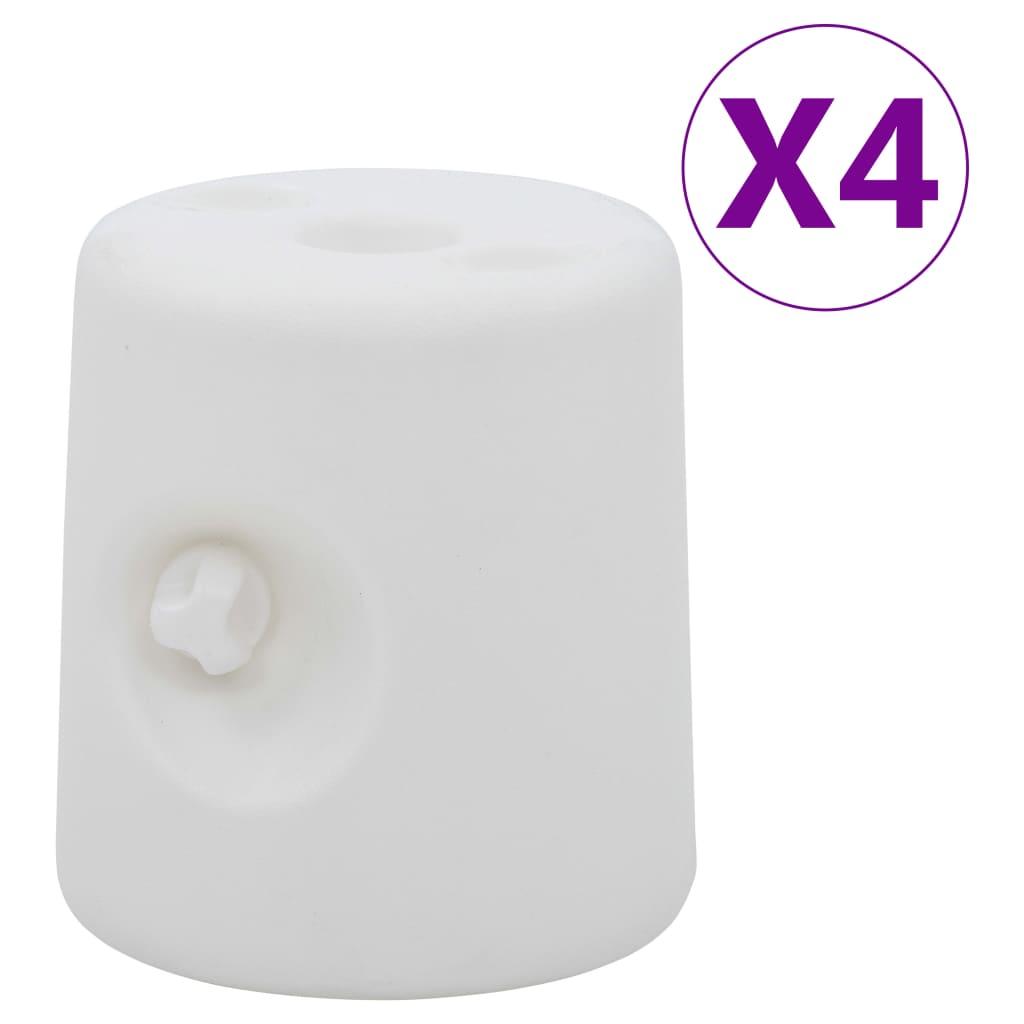vidaXL Greutăți pentru pavilion, 4 buc., alb, PE vidaxl.ro