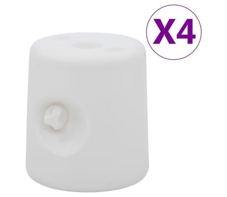 vidaXL Huvimajan painot 4 kpl PE valkoinen
