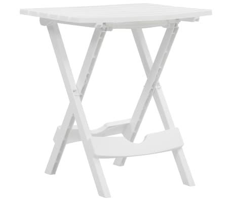 vidaXL Sulankstomas sodo staliukas, baltos spalvos, 45,5x38,5x50cm