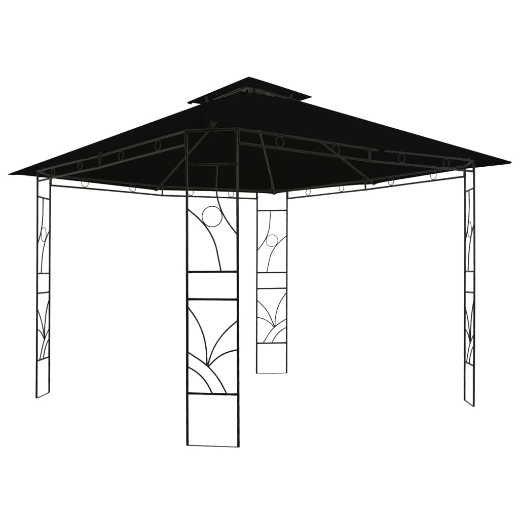 vidaXL Pavilion, antracit, 300 x 300 x 300 cm, pătrat imagine vidaxl.ro