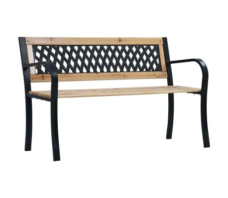 vidaXL Zahradní lavice 120 cm dřevo
