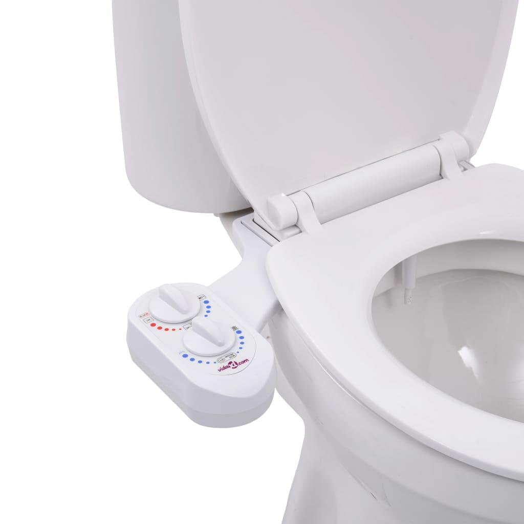 vidaXL Accesoriu bideu pentru capac WC, apă rece & apă caldă, o duză imagine vidaxl.ro