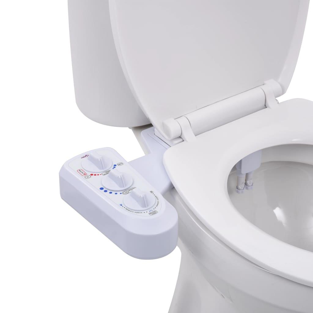 vidaXL Accesoriu bideu pentru scaun toaletă apă rece & caldă două duze poza 2021 vidaXL