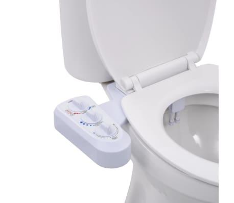 vidaXL Toalettfeste for bidet dobbel dyse varmt og kaldt vann