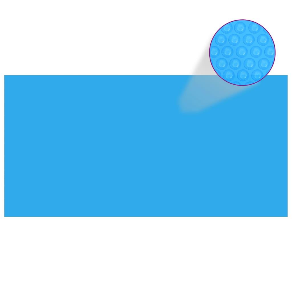 vidaXL Kryt na bazén modrý 400 x 200 cm PE