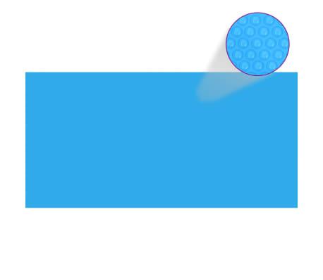 vidaXL Poolabdeckung Blau 600×300 cm PE
