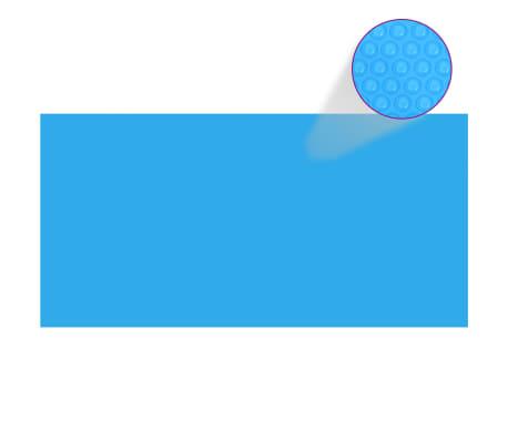 vidaXL Zwembadhoes 488x244 cm PE blauw