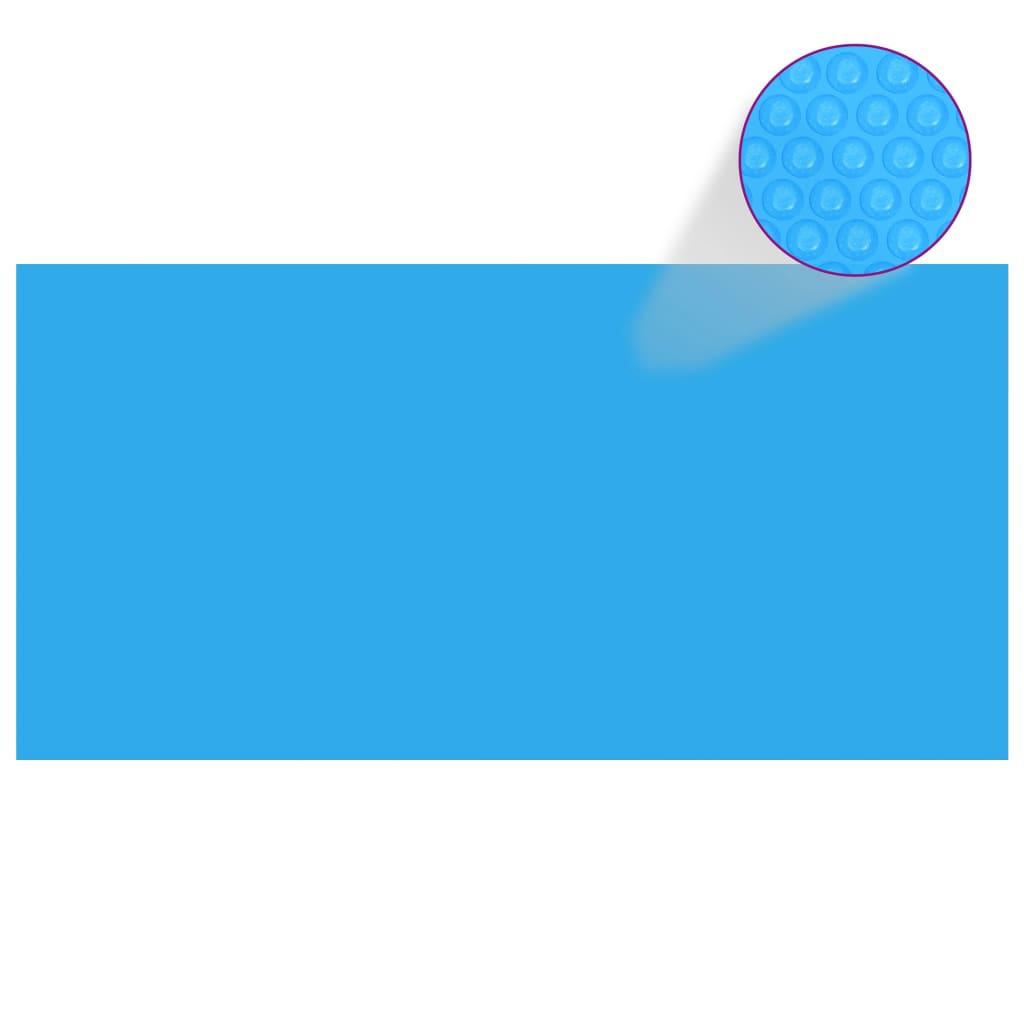 vidaXL Kryt na bazén modrý 488 x 244 cm PE