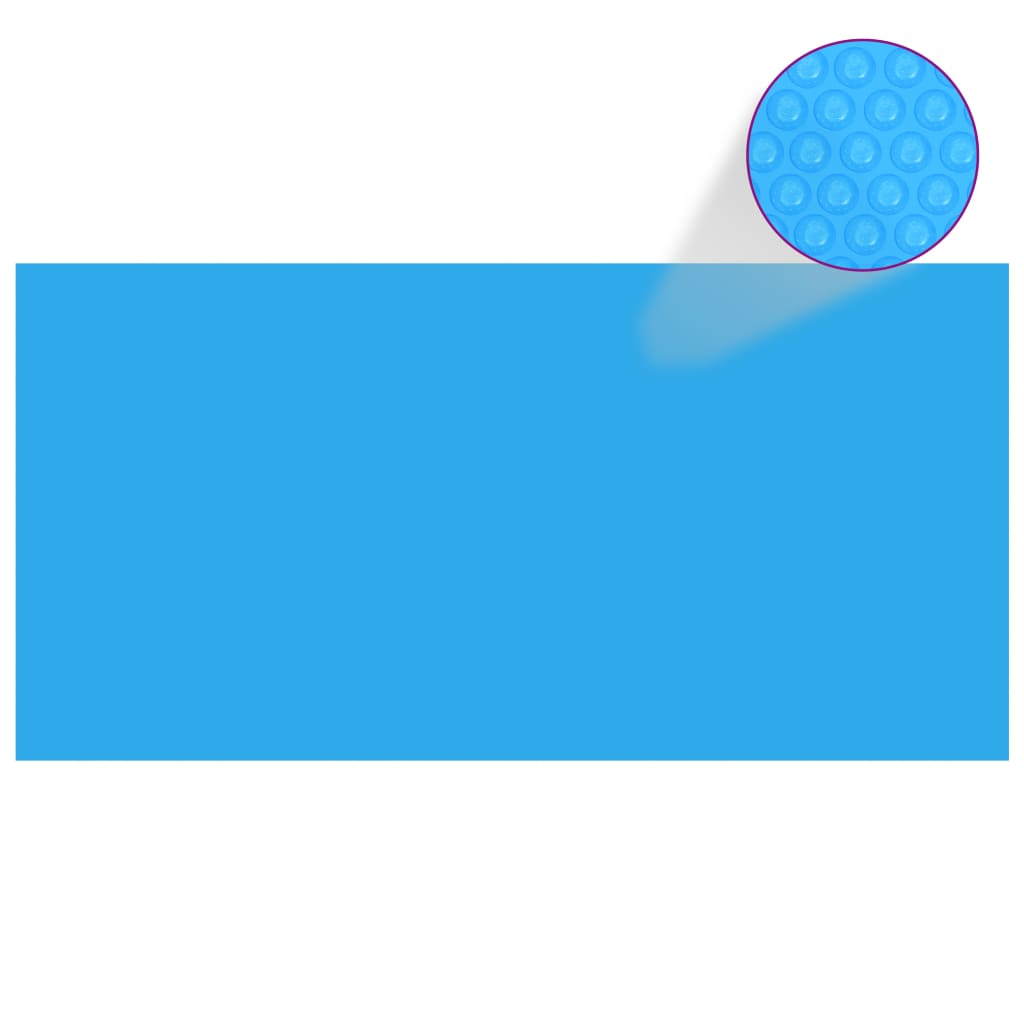 vidaXL Kryt na bazén modrý 975 x 488 cm PE