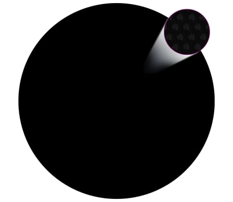 vidaXL Poolskydd svart 300 cm PE