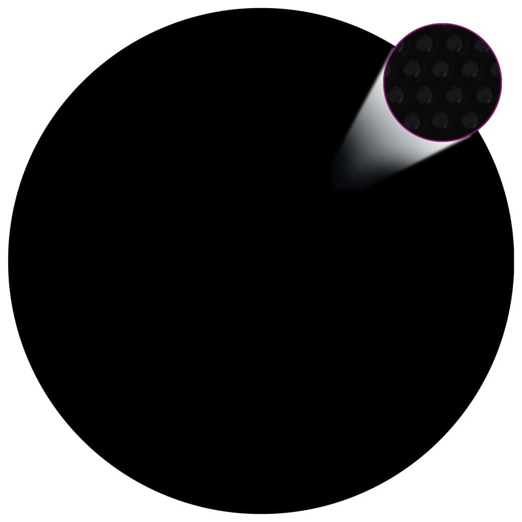 Kryt na bazén černý 356 cm PE