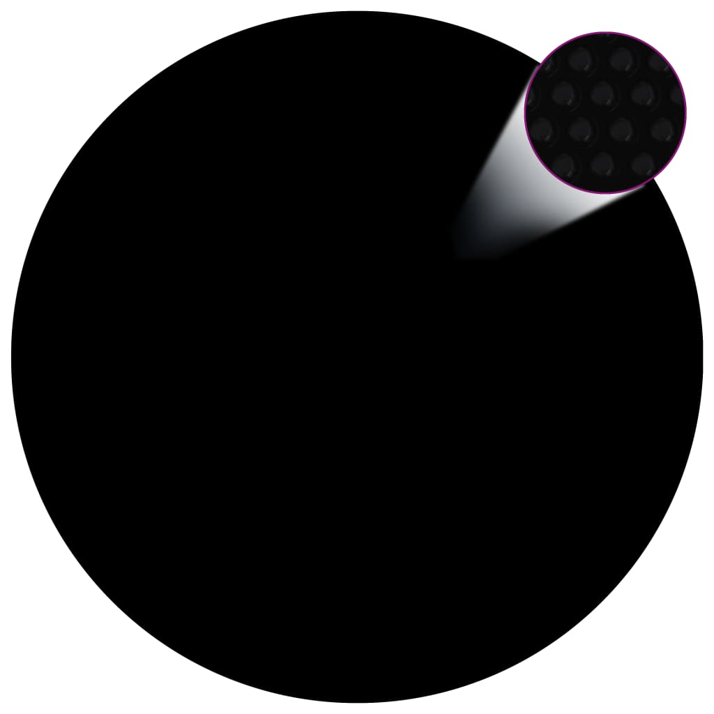 vidaXL Kryt na bazén černý 381 cm PE