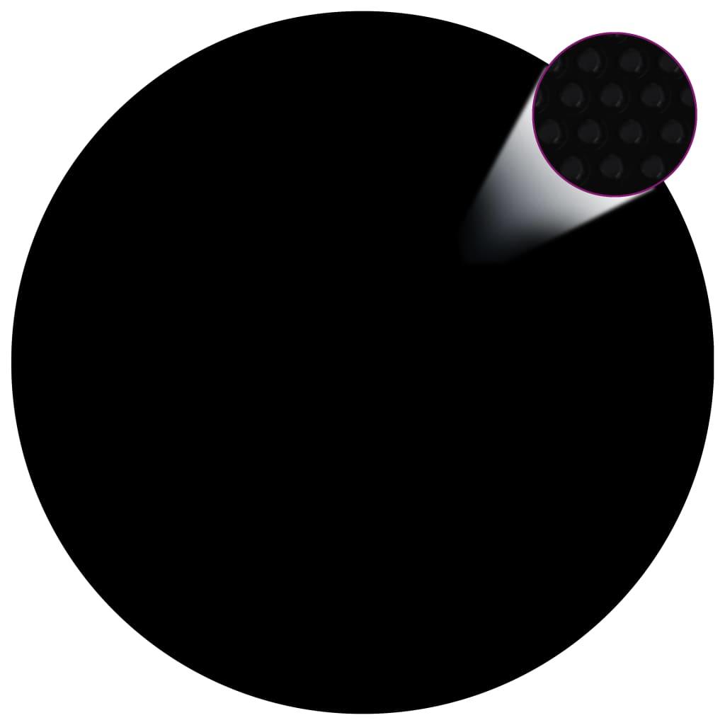 vidaXL Kryt na bazén černý 417 cm PE