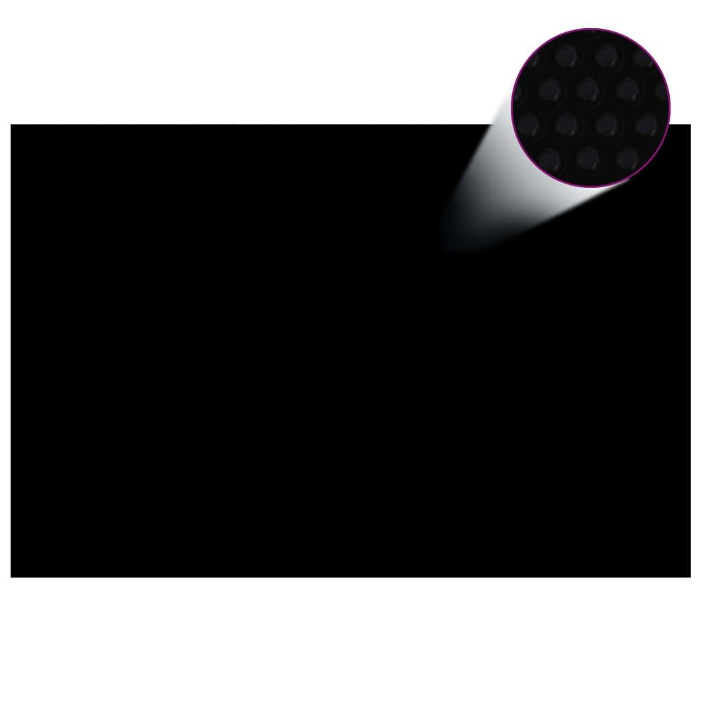 vidaXL Kryt na bazén černý 300 x 200 cm PE