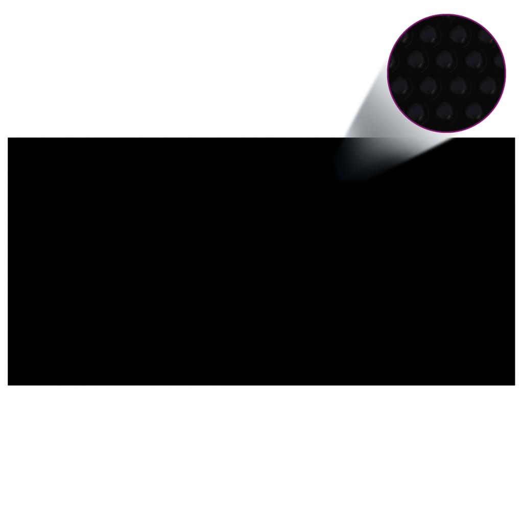 vidaXL Kryt na bazén černý 450 x 220 cm PE