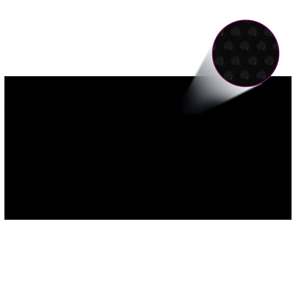 Kryt na bazén černý 400 x 200 cm PE