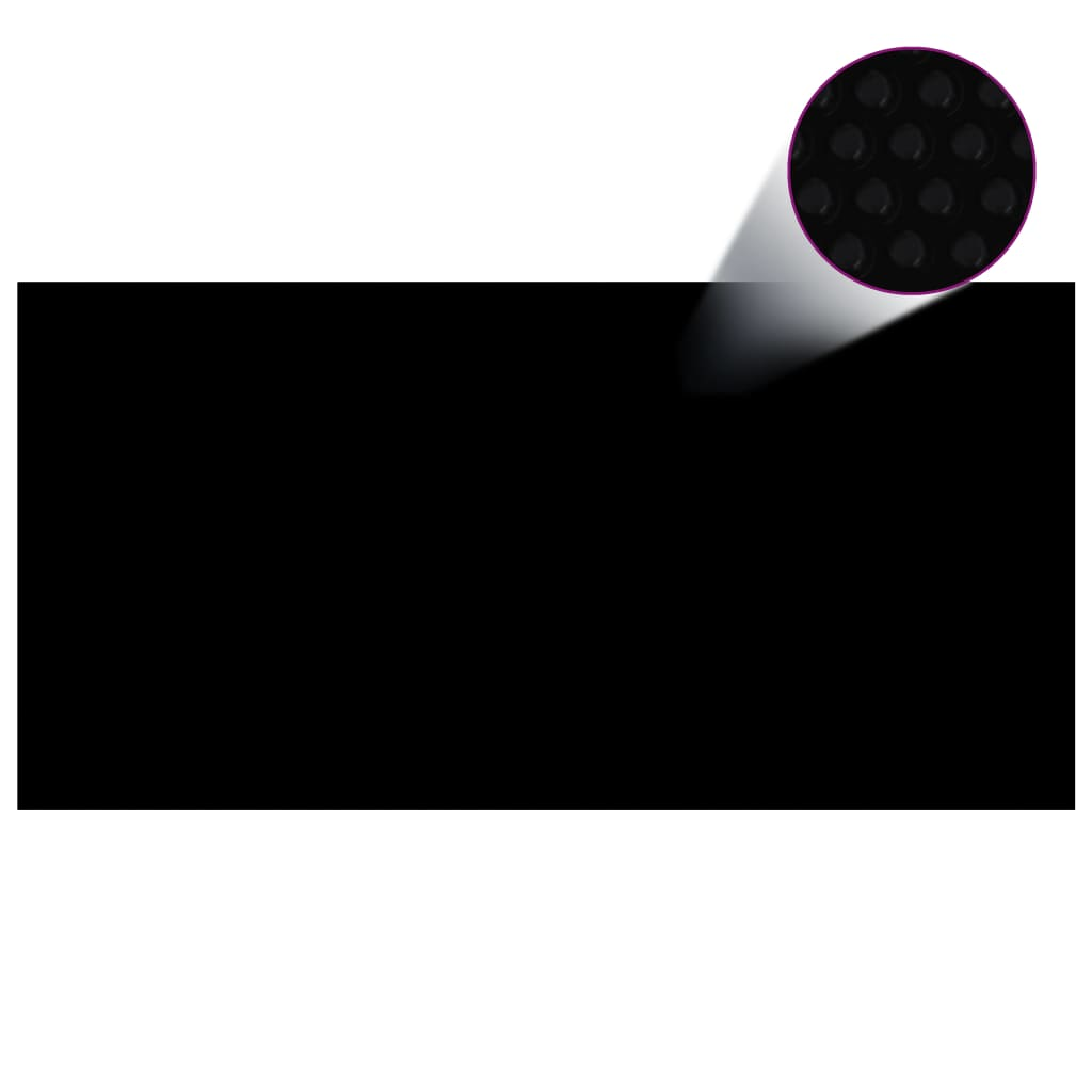 Basseinikate, must, 488 x 244 cm, PE