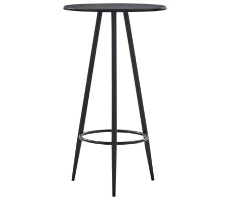 vidaXL Masă de bar, negru, 60 x 107,5 cm, MDF