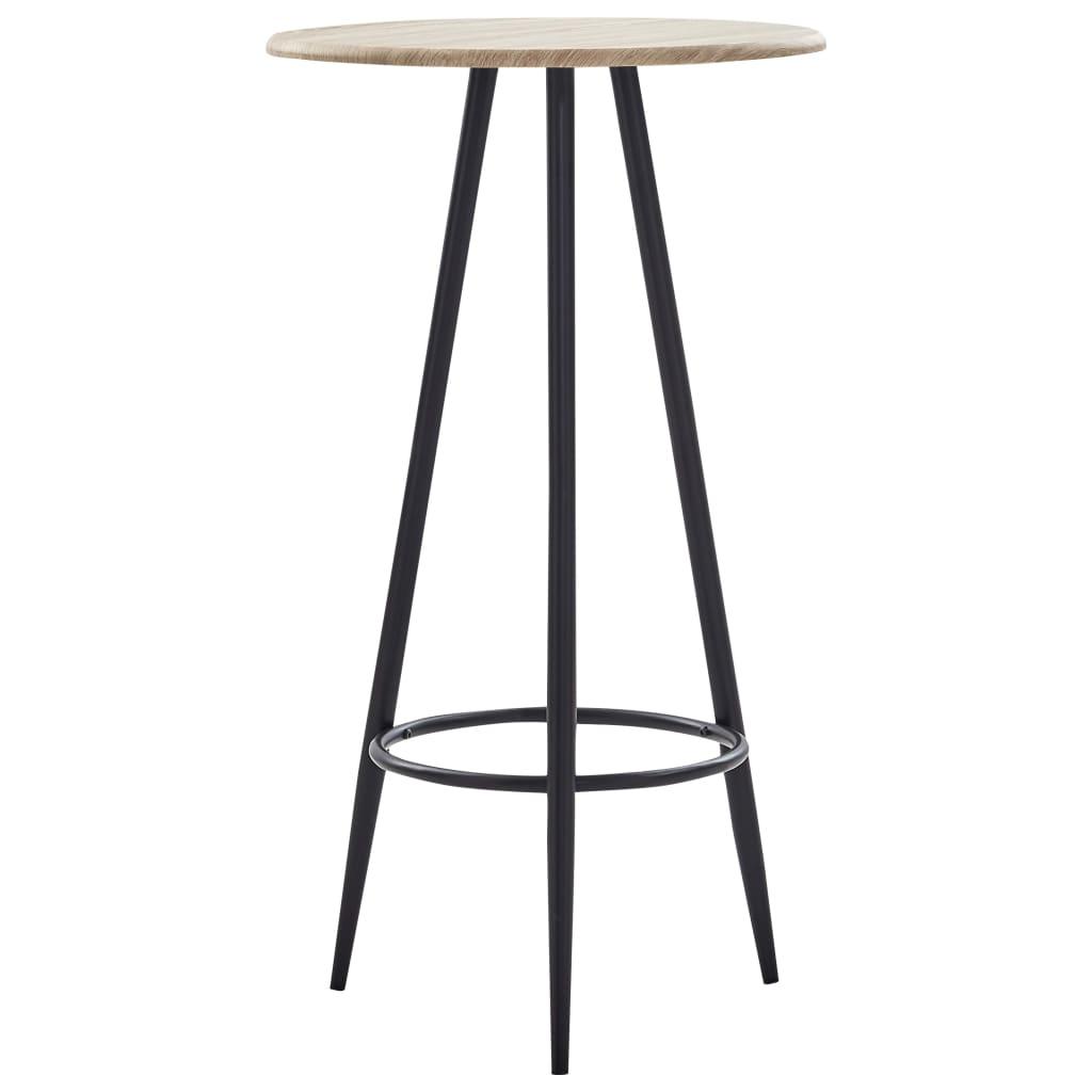 Barový stůl dub 60 x 107,5 cm MDF