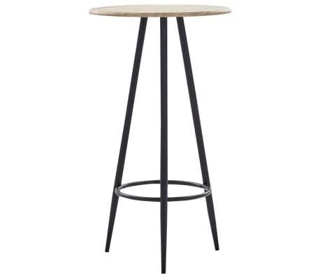 vidaXL Bar Table Oak 60x107.5 cm MDF
