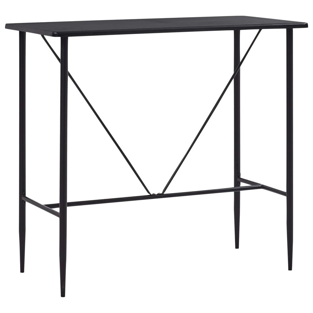 Barový stůl černý 120 x 60 x 110 cm MDF
