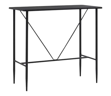 vidaXL Barska miza črna 120x60x110 cm mediapan