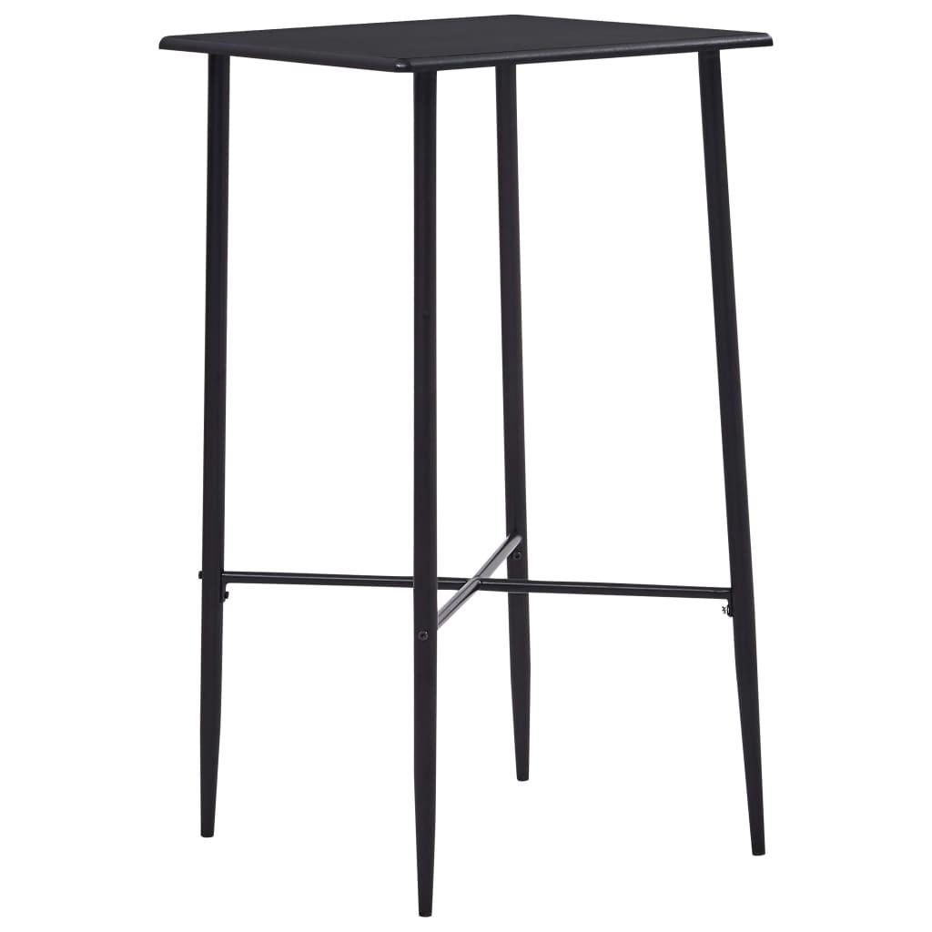 Barový stůl černý 60 x 60 x 111 cm MDF