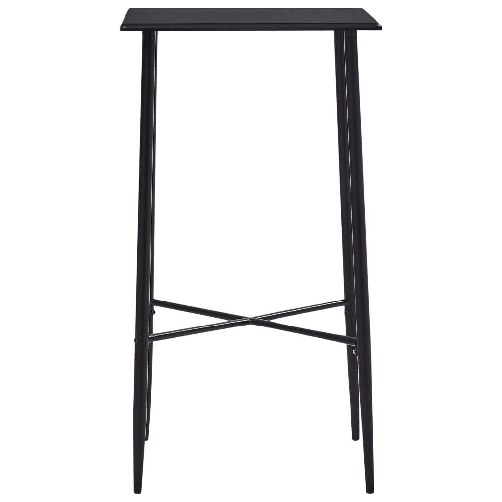 vidaXL Bartafel 60x60x111 cm MDF zwart