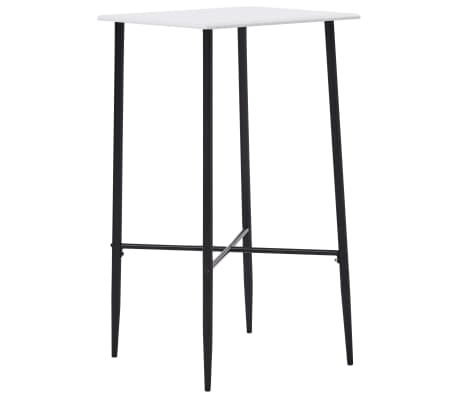 "vidaXL Bar Table White 23.6""x23.6""x43.7"" MDF"