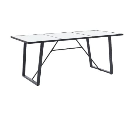 vidaXL Table de salle à manger Blanc 200x100x75 cm Verre trempé