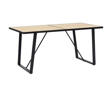 vidaXL Table de salle à manger Chêne 140x70x75 cm MDF