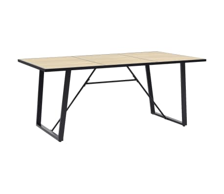 vidaXL Table de salle à manger Chêne 200x100x75 cm MDF