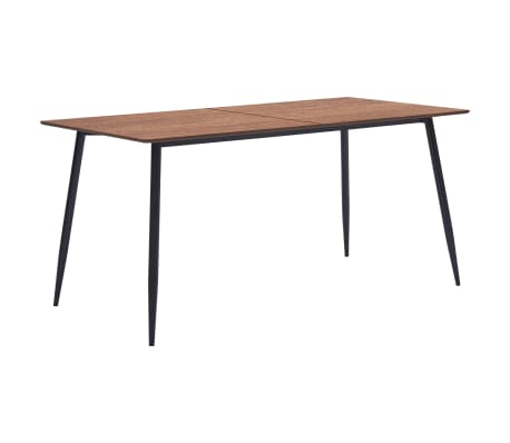 vidaXL Table de salle à manger Marron 140x70x75 cm MDF
