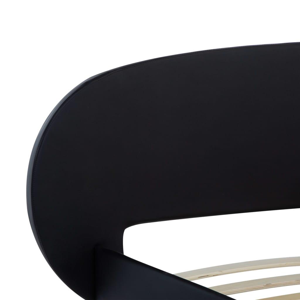 Bedframe kunstleer zwart 180x200 cm