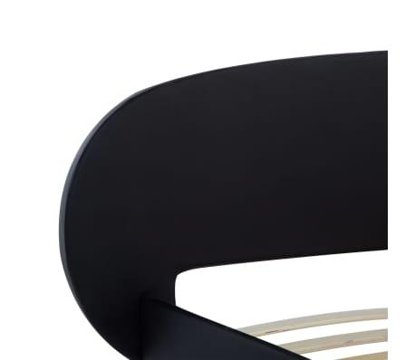 vidaXL Cadre de lit Noir Similicuir 180 x 200 cm[5/7]