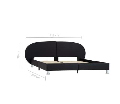 vidaXL Cadre de lit Noir Similicuir 180 x 200 cm[7/7]