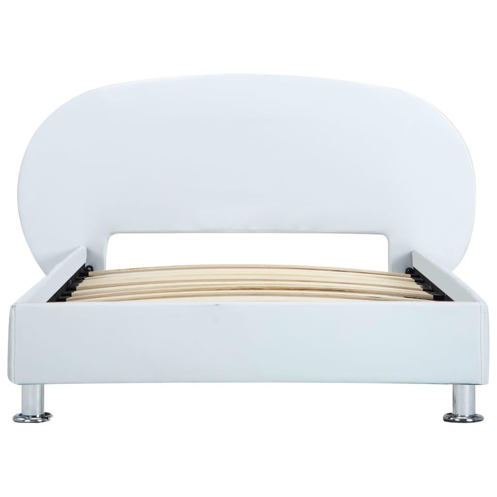 vidaXL Bedframe kunstleer wit 90x200 cm