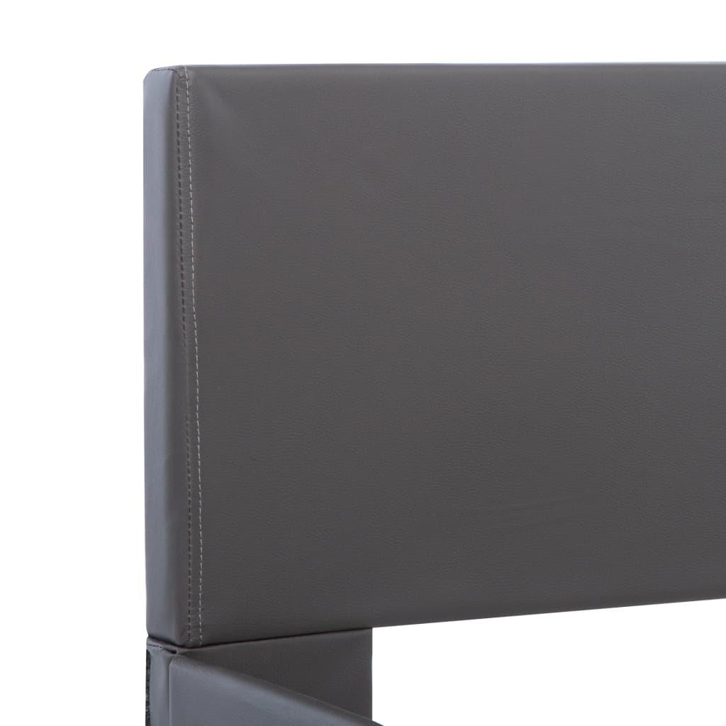 vidaXL Bedframe kunstleer grijs 180x200 cm