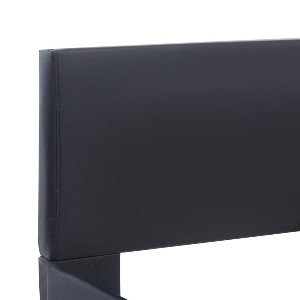 vidaXL Bedframe met LED kunstleer zwart 180x200 cm