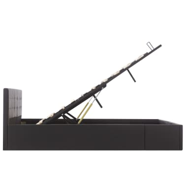 vidaXL Bedframe hydraulisch kunstleer zwart 160x200 cm[6/7]