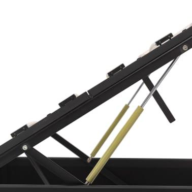 vidaXL Bedframe hydraulisch kunstleer zwart 160x200 cm[7/7]
