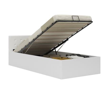 vidaXL Bedframe met opslag hydraulisch kunstleer wit 100x200 cm
