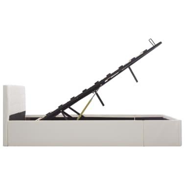 vidaXL Bedframe hydraulisch kunstleer wit 160x200 cm[6/7]