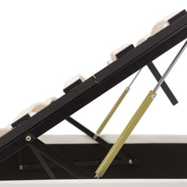 vidaXL Bedframe hydraulisch kunstleer wit 160x200 cm[7/7]