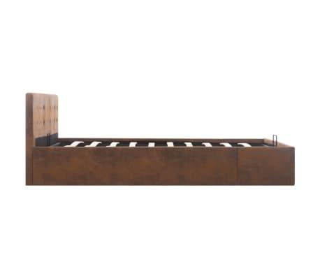 vidaXL Bedframe met opslag hydraulisch stof bruin 160x200 cm[5/7]