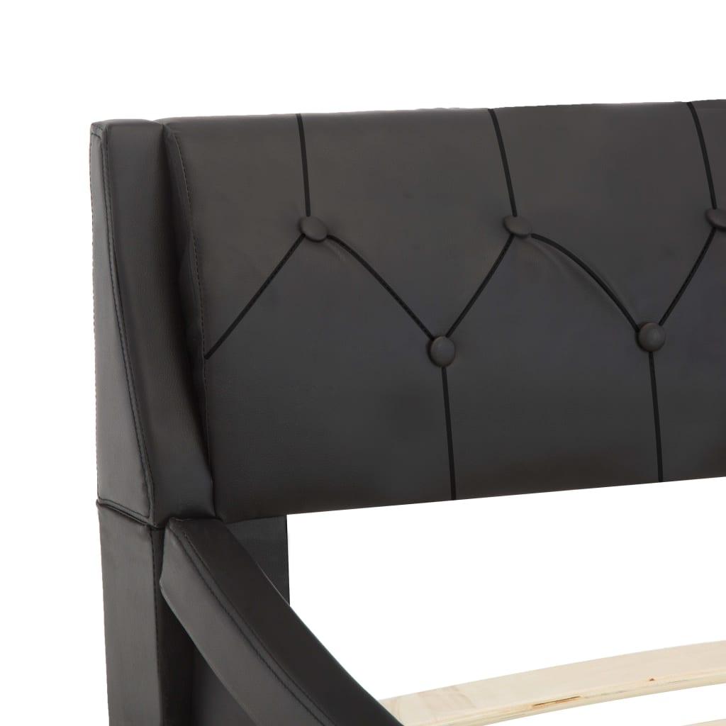 vidaXL Bedframe kunstleer zwart 100x200 cm