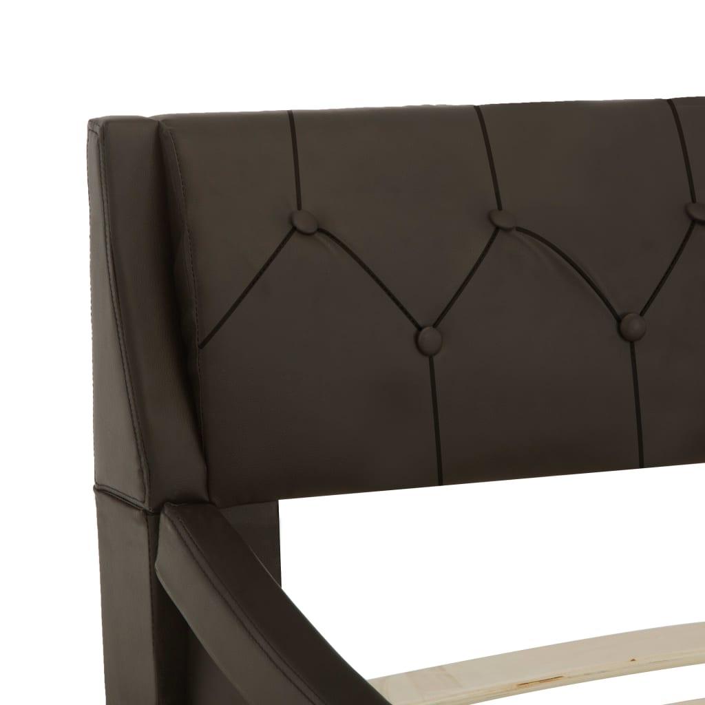vidaXL Bedframe kunstleer grijs 90x200 cm
